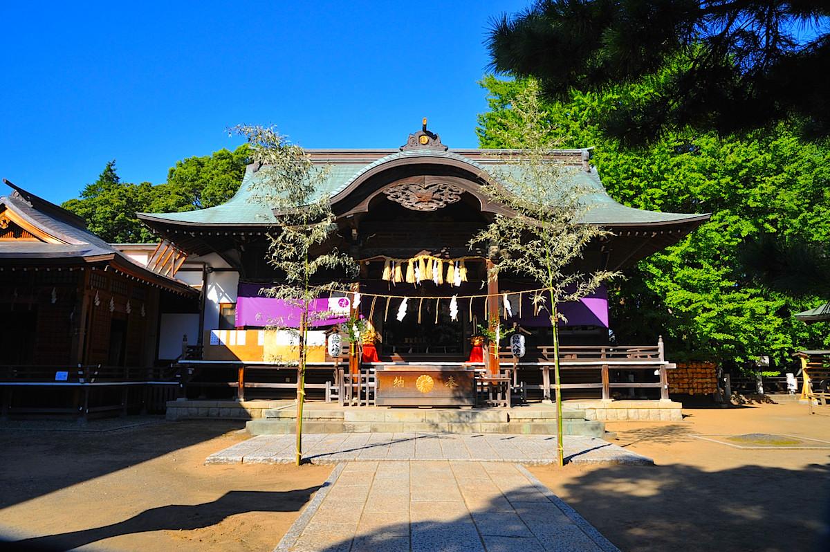 葛飾八幡宮の拝殿