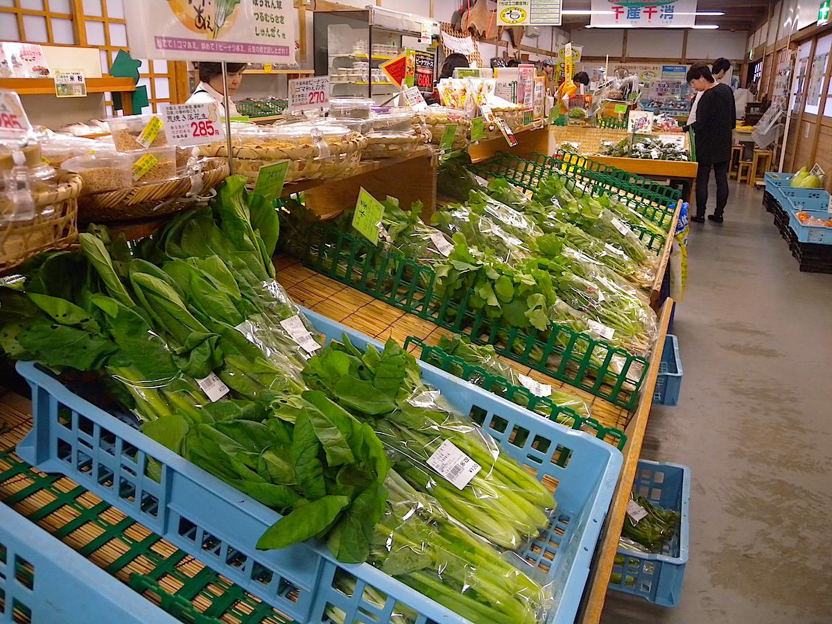 長狭米だけでなく、採れたての農産物を直売