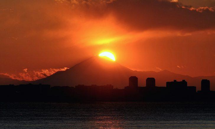 茜浜緑道で『ダイヤモンド富士』(習志野市) | 東京湾観光情報局