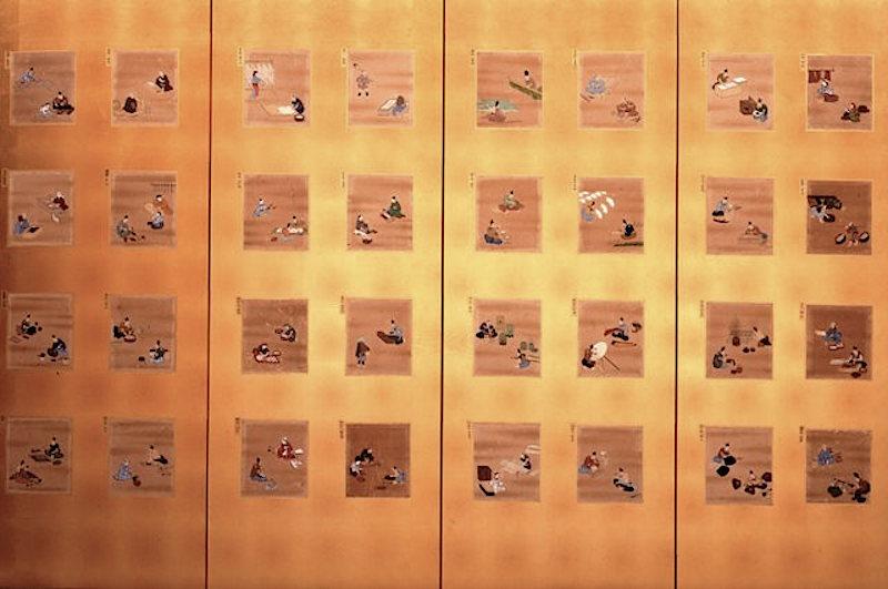 『職人尽絵貼りまぜ屏風』(千葉県立中央博物館蔵/部分)