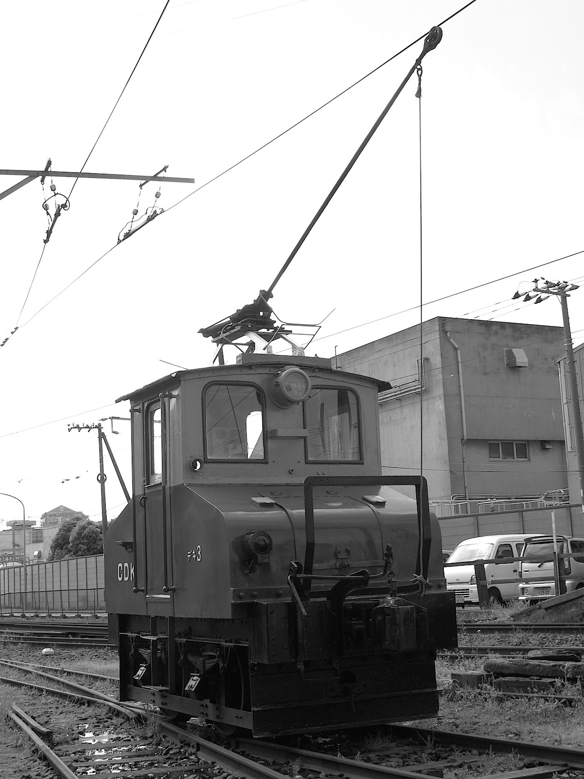 日本最古級の電気機関車である「デキ3」