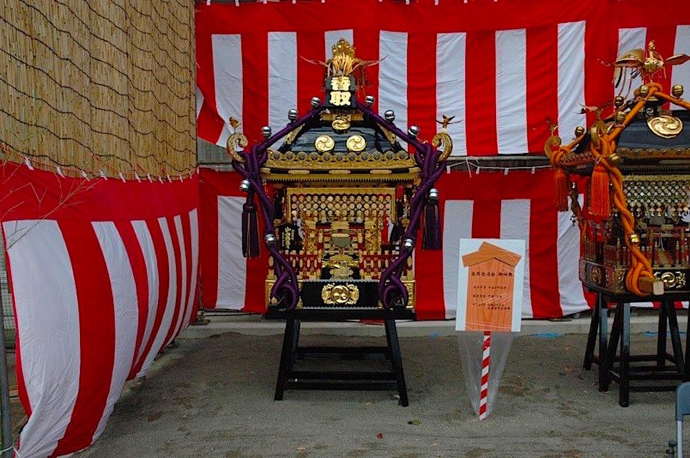 行徳神輿の展示