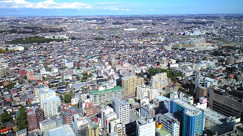 市川駅北口方面の眺め