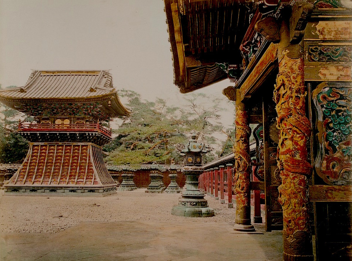 焼失前の有章院霊廟