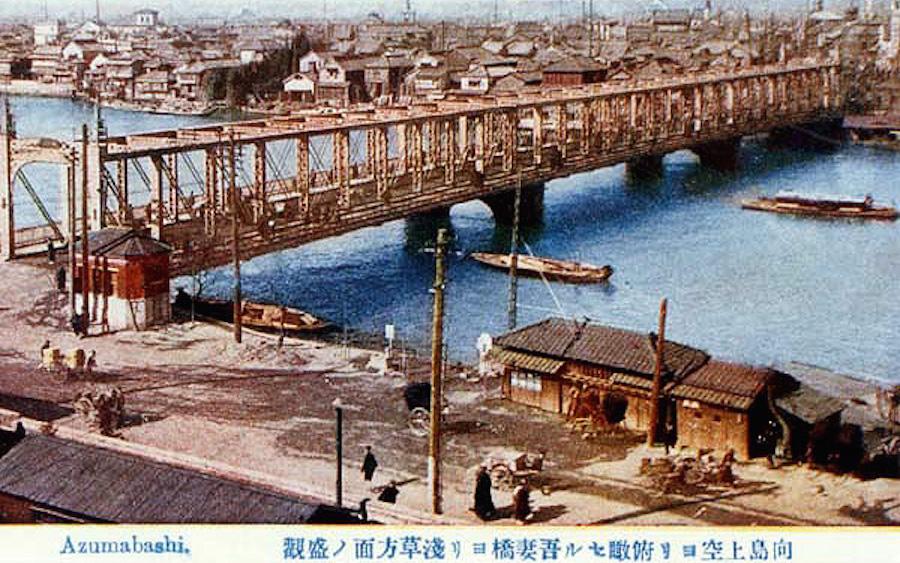 向島側から眺めた明治20年架橋の吾妻橋