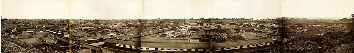 愛宕山より撮影した江戸のパノラマ(1865〜1866年頃、フェリックス・ベアト撮影)