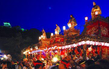 館山の祭り(館山地区合同祭礼)