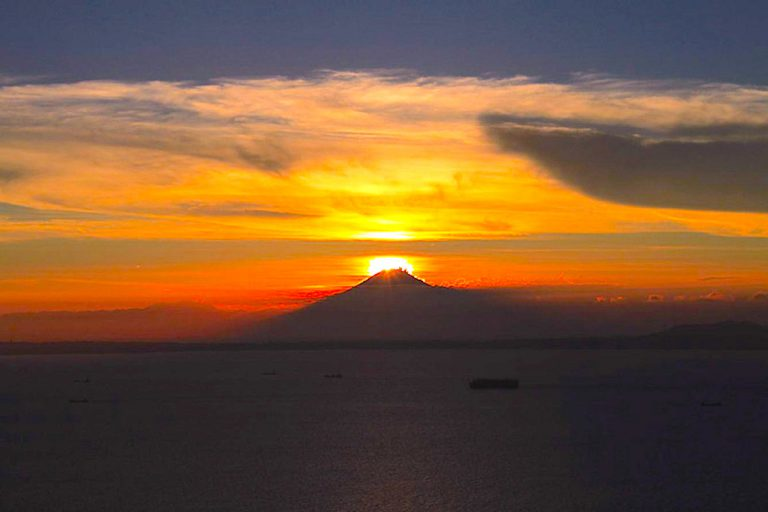 鋸山山頂・ダイヤモンド富士