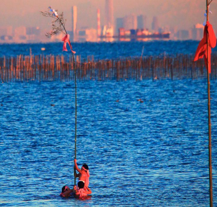 中島海岸『ぼん天立て』|木更津市
